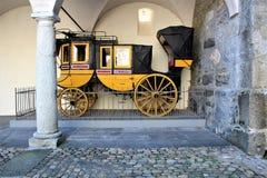Stadt von Briga in der Schweiz Lizenzfreies Stockfoto