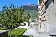 Stadt von Briga in der Schweiz Stockfoto