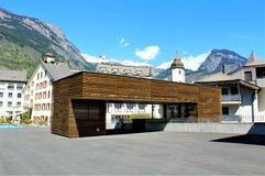 Stadt von Briga in der Schweiz Lizenzfreies Stockbild