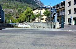 Stadt von Briga in der Schweiz Lizenzfreie Stockbilder