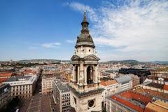 Stadt von Budapest-Stadtbild in Ungarn lizenzfreies stockbild