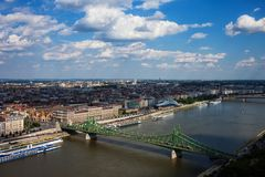 Stadt von Budapest in Ungarn Stockbilder