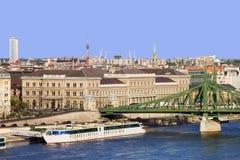 Stadt von Budapest in Ungarn stockfotos