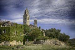 Stadt von Bussana-vecchia Sanremo lizenzfreies stockbild