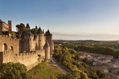 Stadt von Carcassonne, Frankreich Stockbild