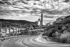 Stadt von Castiglion Fiorentino lizenzfreie stockfotos
