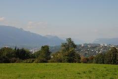 Stadt von Chambery, im Wirsing, Frankreich Lizenzfreies Stockfoto