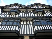 Stadt von Chester Tudor Facade lizenzfreie stockbilder