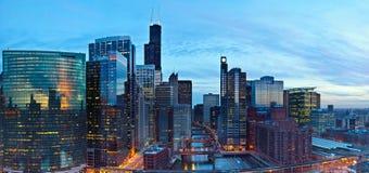 Stadt von Chicago Stockbild