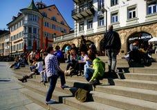 Stadt von Constance Stockfoto