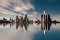 Stadt von Detroit stockbild
