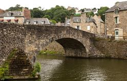 Stadt von Dinan, Frankreich Stockfotografie