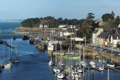 Stadt von Douarnenez-Hafen im Dezember 2015 Frankreich Lizenzfreie Stockfotos