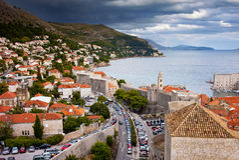 Stadt von Dubrovnik-Stadtbild Stockbilder
