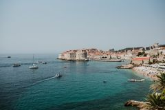 Stadt von Dubrovnik, Kroatien stockbild