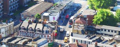 Stadt von einer Höhe lizenzfreies stockbild