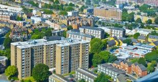 Stadt von einer Höhe stockfotos
