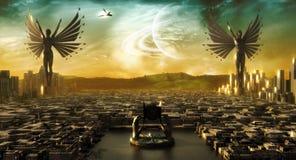 Stadt von Engeln Stockbild