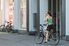Stadt von Fahrrädern Stockbild