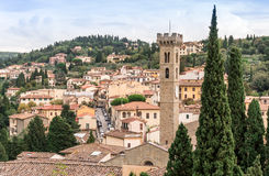 Stadt von Fiesole, Italien Stockbilder