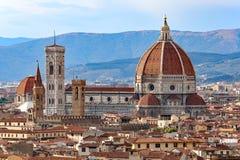 Stadt von FLORENZ mit der großen Haube der Kathedrale Stockbilder