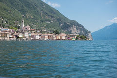 Stadt von gargnano an See garda in Italien stockfoto