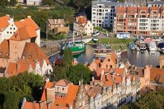 Stadt von Gdansk in Polen Stockfotografie