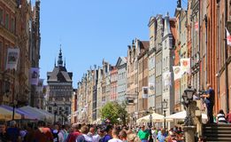 Stadt von Gdansk, Polen Lizenzfreie Stockfotos