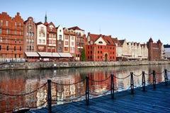 Stadt von Gdansk in Polen Stockbild