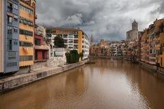 Stadt von Girona Stockfoto