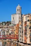 Stadt von Girona in Spanien Stockbild