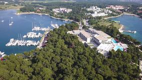 Stadt von Grün Laguna Porec Cratia stock video footage