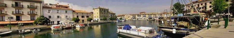 Stadt von Grado in Italien, Panorama Stockfotografie