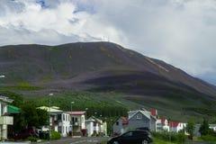 Stadt von Grenivik, Island Stockfoto