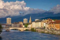 Stadt von Grenoble, Frankreich lizenzfreies stockfoto