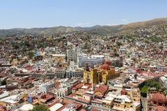 Stadt von Guanajuato von Mirador Del PÃpila lizenzfreie stockbilder