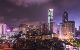 Stadt von Guiyang in China - vibrierend Stockfotos