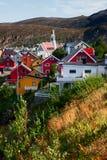 Stadt von Hammerfest Stockfotos