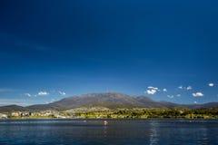 Stadt von Hobart Stockfotos