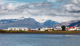 Stadt von Hofn, Ost-Island Stockfoto