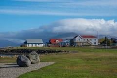 Stadt von Hofn in Südost-Island lizenzfreie stockfotos