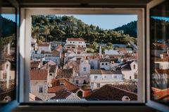 Stadt von Hvar, Kroatien stockfoto
