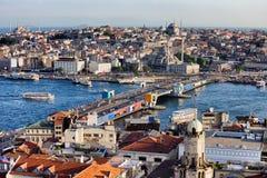 Stadt von Istanbul-Stadtbild in der Türkei lizenzfreie stockbilder