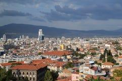 Stadt von Izmir vor Sturm Stockfotografie