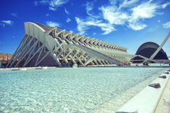 Stadt von Künsten und von Wissenschaften in Valencia Spain stockbilder
