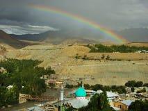 Stadt von Kargil in Ladakh, Indien Stockfotografie