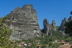 Stadt von Kastraki, Meteora-Berge in Thessalien, Griechenland Lizenzfreie Stockfotografie