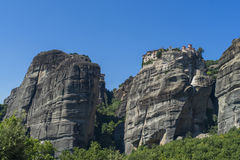 Stadt von Kastraki, Meteora-Berge in Thessalien, Griechenland Stockbilder
