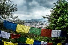 Stadt von Kathmandu stockfotografie