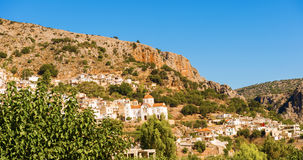 Stadt von Kritsa in Kreta, Griechenland Stockbild